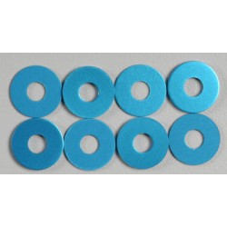 TAMIYA 0.75MM WHEEL SPACER (BLUE/8PCS)