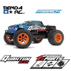 MAVERICK QUANTUM MT FLUX 1/10 4WD MONSTER TRUCK - BLUE