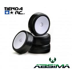 ABSIMA SLICK WHEEL SET DISC (WHITE)