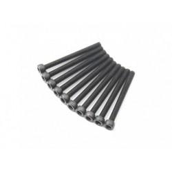 SCREW SOCKET HEAD HEX M3X30 STEEL BLACK (10PCS)