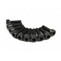 SCREW SOCKET HEAD HEX M3X10 STEEL BLACK (10PCS)