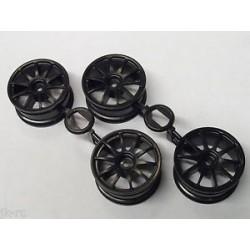 TAMIYA NSX CONCEPT GT WHEELS (BLACK 10 SPOKE)