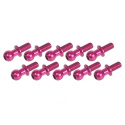 3 RACING ALUMINUM BALL STUD PINK