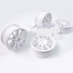 TAMIYA MEDIUM-NARROW WHITE 10-SPOKE
