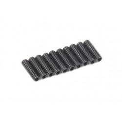 SCREW GRUB 3X10MM STEEL BLACK (10PCS)