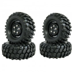 4 RUEDAS RC LAND ROVER BLACK 95MM