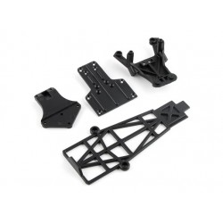 FRONT SHOCK TOWER MOUNT/SKID PLATE/BATTERY HOLDER
