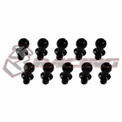 3 RACING 7075 ALUMINUM BALL STUD BLACK