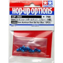 TAMIYA 5MM ALUMINUM SHORT BALL NUT (BLUE)