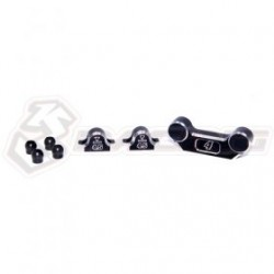 3 RACING GRAPHITE FRONT SUSP MOUNT & SEPARATE SUSP MOUNT FOR MINI MG