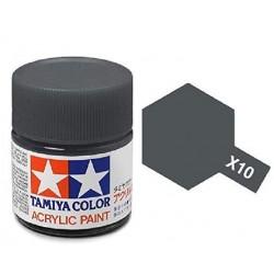 TAMIYA X10 GRIS ACERO BRILLANTE BRILLANTE