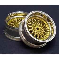 2 LLANTAS 1/10RC BBS GOLD (+6)