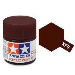 TAMIYA XF9 ROJO CASCO MATE