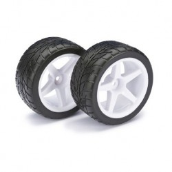 ABSIMA 1/10 WHEEL SET BUGGY STREET REAR (2PCS)