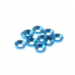 HIRO SEIKO 3MM ALU CONTERSUNK WASHER BLUE (10 PCS)