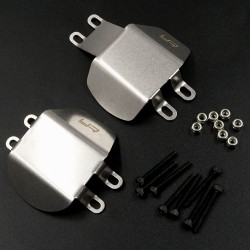 YEAH RACING STAINLESS STEEL FRONT/REAR DIFFERENTIAL PROTECTOR FOR TAMIYA CC02
