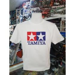 T-SHIRT TAMIYA LOGO WHITE (L)