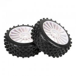 STAR PIN 1/8 OFF-ROAD SPORT PRE-MOUNTED ON WHITE WHEEL (2PCS)