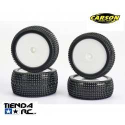 CARSON 1/10 SUPER GRIPP 4WD WHEEL SET (12MM HEX)