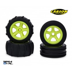 CARSON 1/10 2WD PADDLE TIRES (YELLOW)