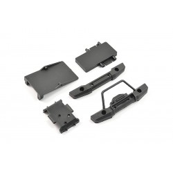 FTX MINI OUTBACK 2.0 FR/RR BUMPERS & ELECTRONICS MOUNTS