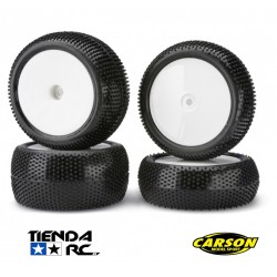 CARSON 1/10 DIRT WARRIOR 4WD WHEEL SET (12MM HEX)