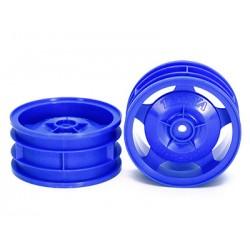 TAMIYA 4WD FRONT STAR-DISH WHEEL (BLUE)