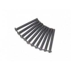 SCREW BUTTON HEAD HEX 3X28MM STEEL BLACK (10 PCS)